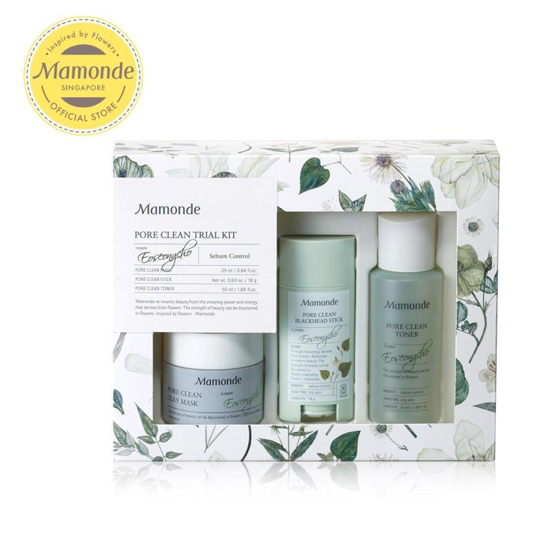 Buy [SKINCARE EXCLUSIVE] Mamonde Pore Clean (AD) Travel Kit Set Singapore