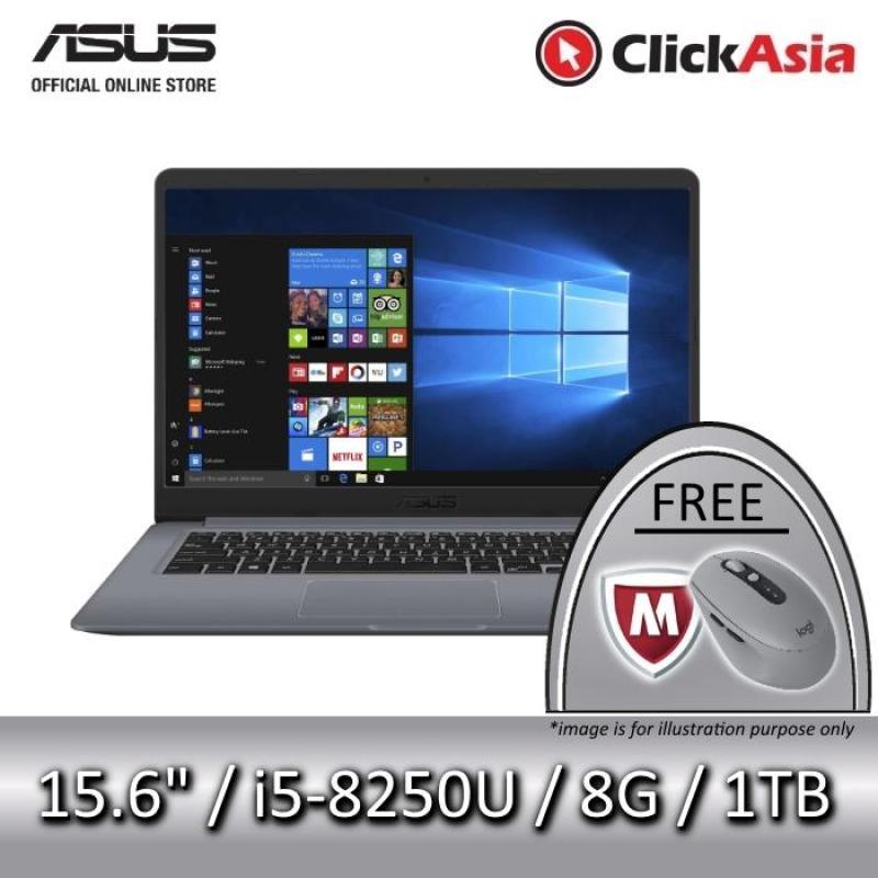 ASUS VivoBook 15 (X510UF-BR154T) - 15.6/i5-8250U/8GB DDR4/1TB SATA/NVIDIA MX130 (Grey)