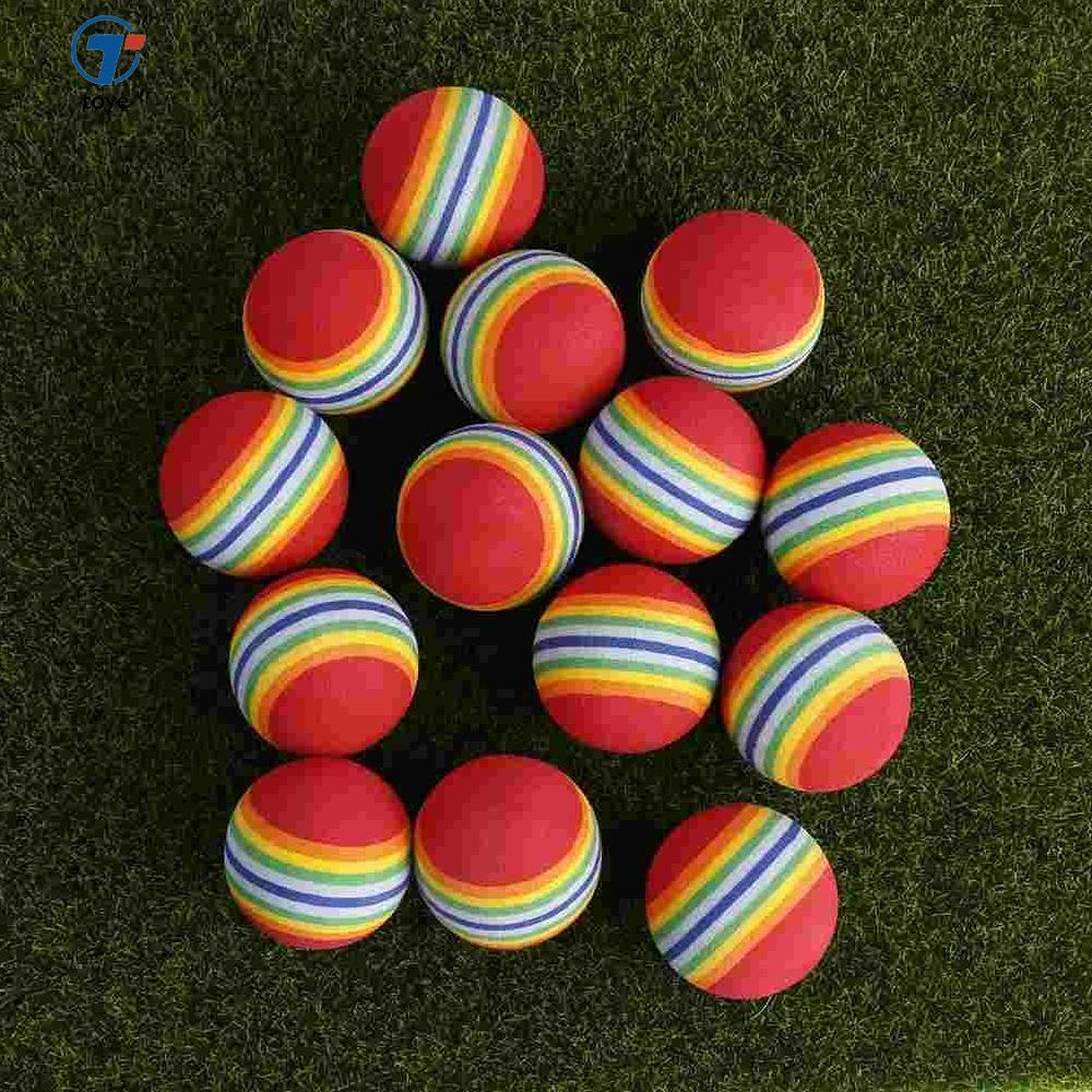 20pcs Practice Golf Swing 42mm Eva Foam Balls Training Aids Sport Rainbow - Intl By Toye.