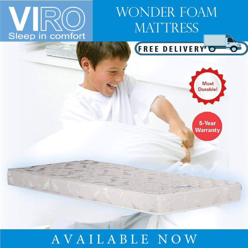 VIRO Brand Wonder Foam Mattress Single 5 inch Super single 5 inch Free delivery