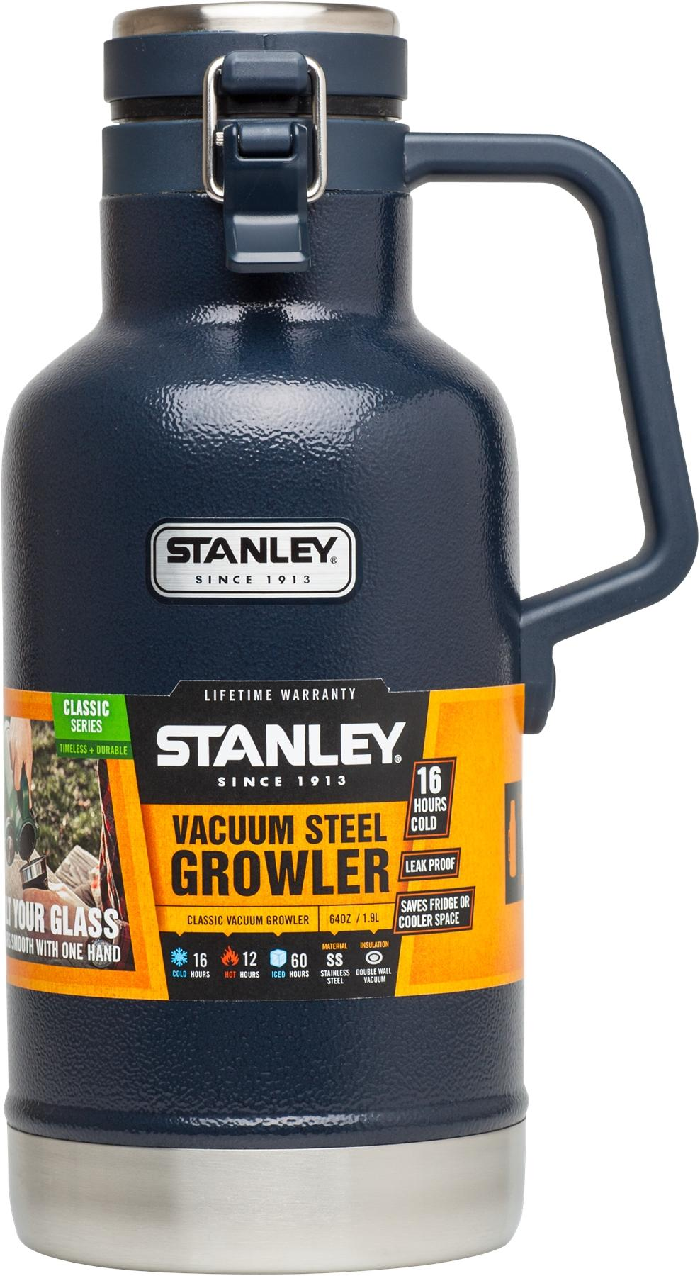 Stanley Insulated Classic Vacuum Steel Growler, Navy Blue, 64oz(1 9L) For  Outing Hiking Camping Travel Fishing