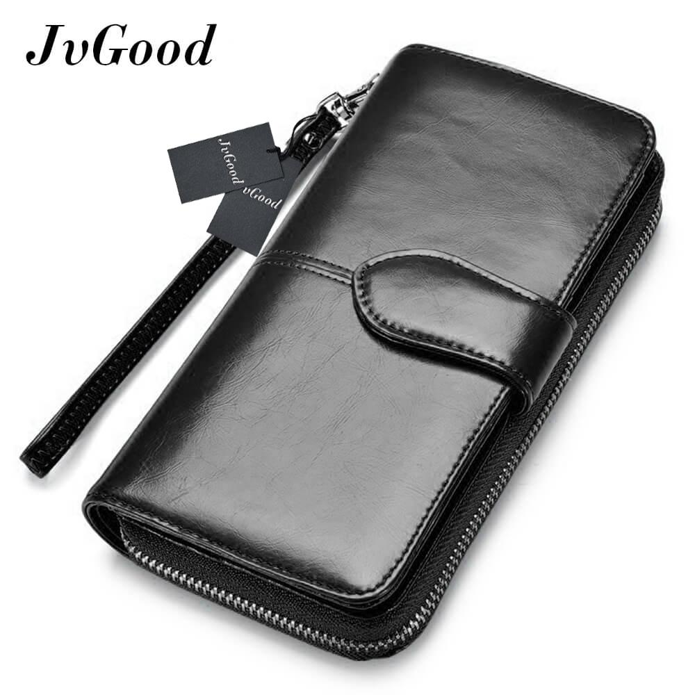 Jvgood Women Large Capacity Leather Purse Clutch Wallet Bifold Checkbook With Phone Pocket By Jvgood.