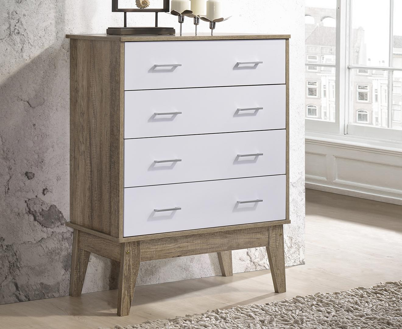 Scandinavian 4 Chest of Drawers Cabinet Storage Tallboy Bedroom⭐E-LIVING Furniture
