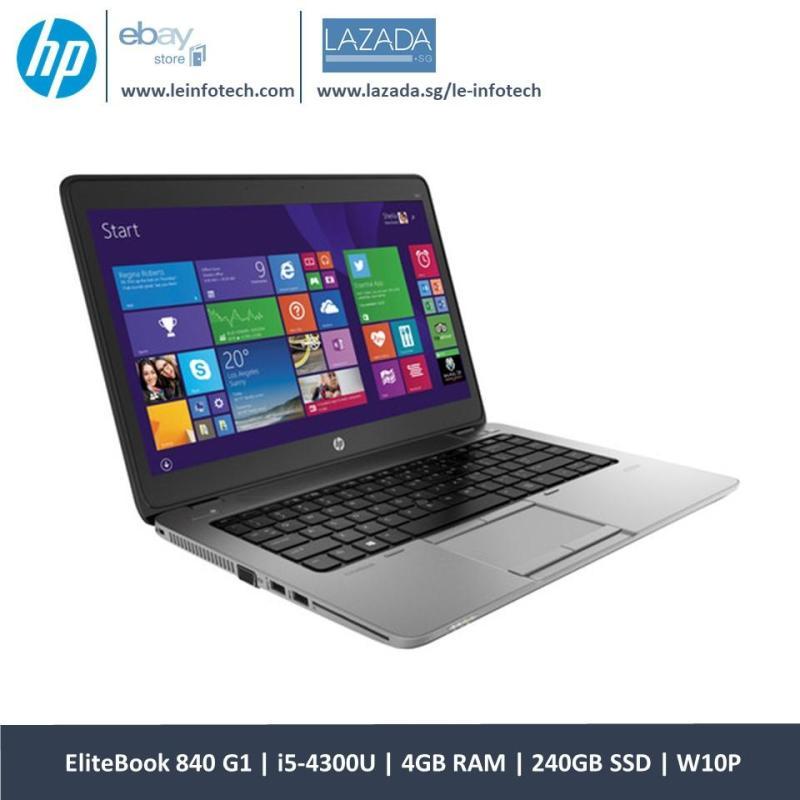 HP Elitebook 840 G1 14 Core i5-4300U@1.9Ghz 4th Gen 4GB RAM 240GB SSD Win 10 Pro Warranty Wifi Bluetooth One Month Warranty