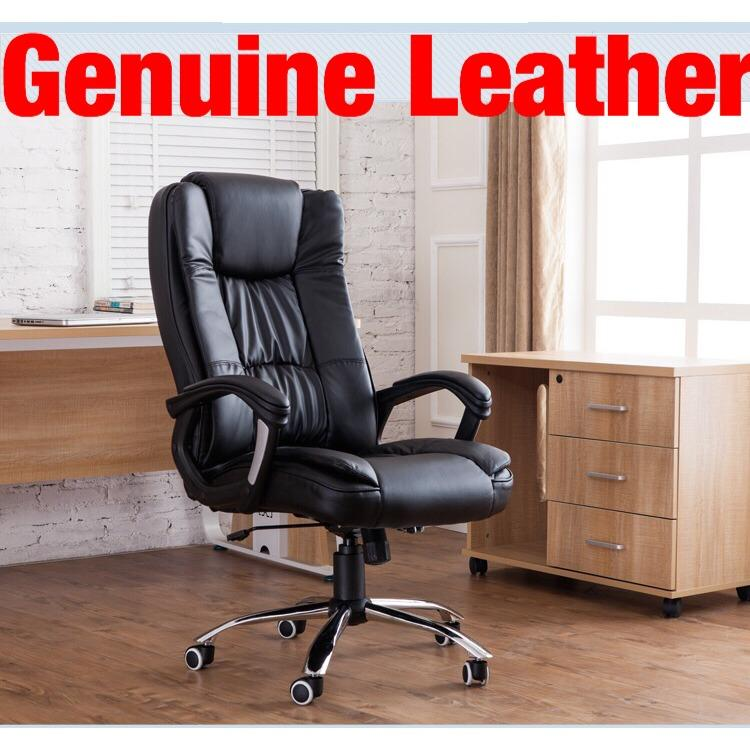 UMD Genuine Leather Office Chair Boss Chair Director Chair (3 models to choose:338/501/504 Free Installation/1 Year warranty)