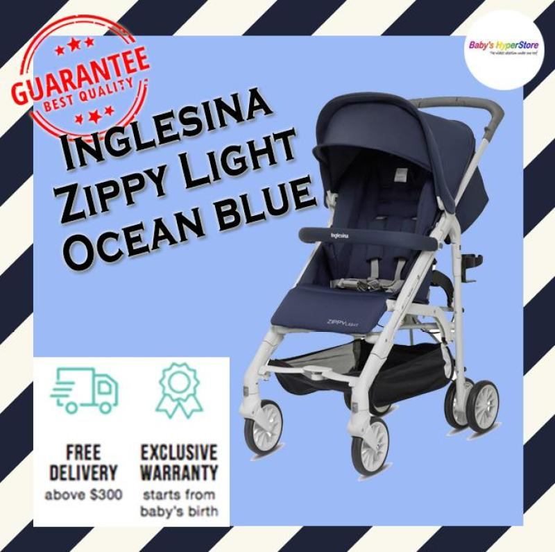 Inglesina Zippy Light Stroller - Ocean blue - Suitable from newborn to 25kg (Approx. 5 years) - Lightweight & compact - Local seller warranty 1 YEAR Singapore