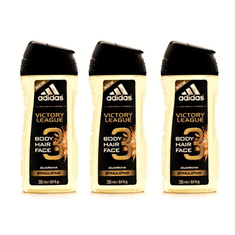 Buy ADIDAS 3 IN 1 SHOWER GEL VICTORY LEAGUE 250ML x 3 QTY Singapore