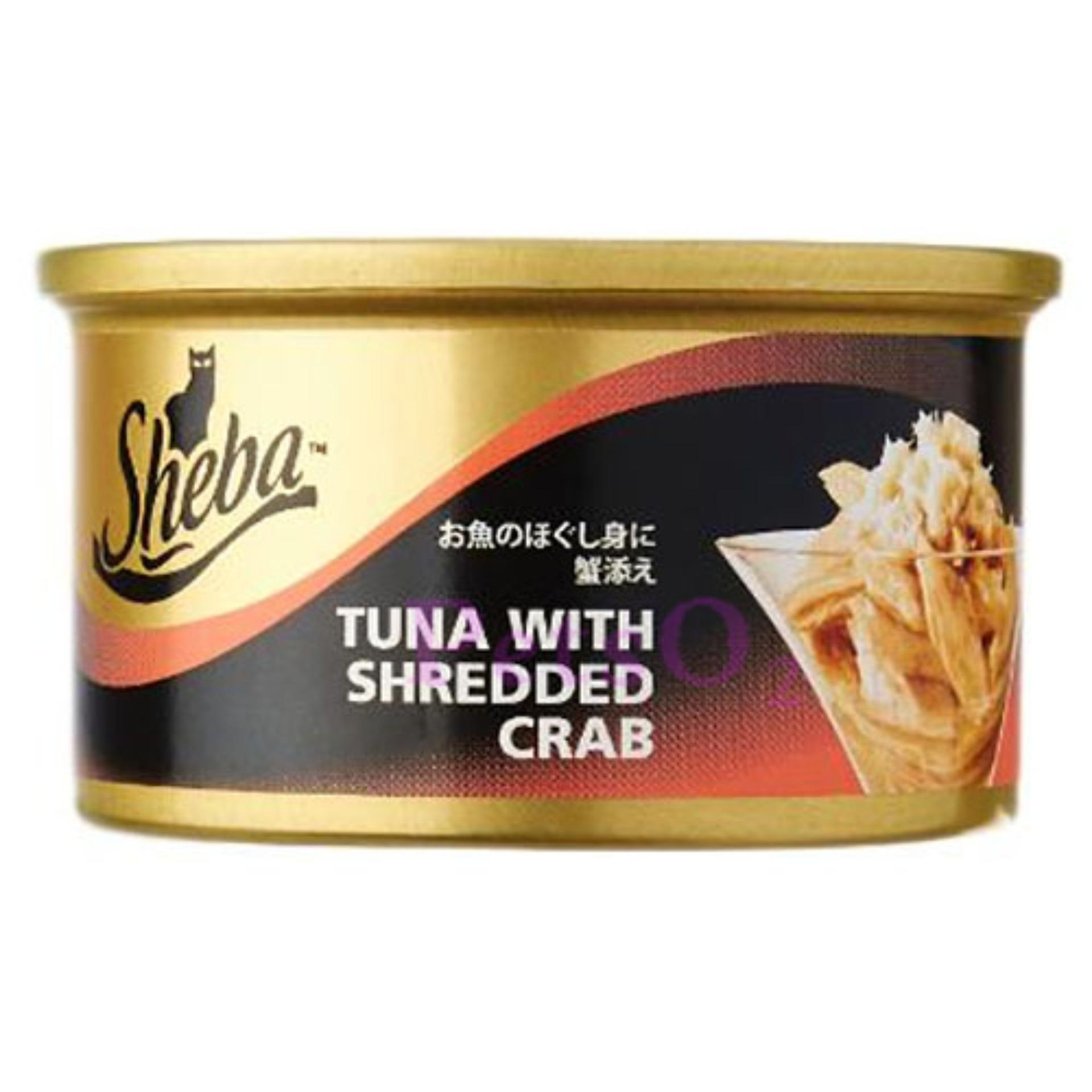Retail Sheba Tuna With Shredded Crab 85G X24 Cans