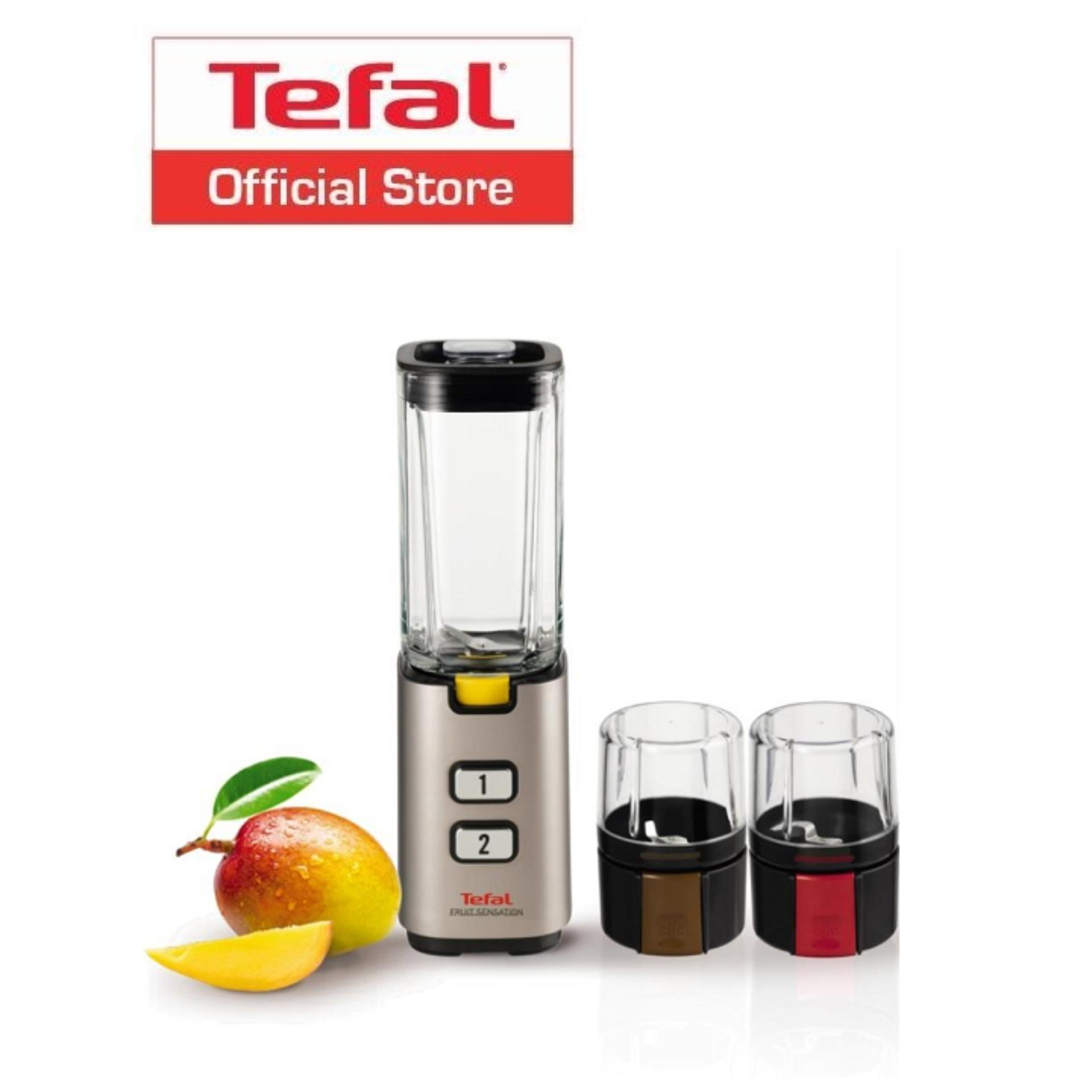 List Price Tefal Fruit Sensation Mini Blender Glass Jug W Herb Mill And Nut Spice Mill Bl142A Tefal