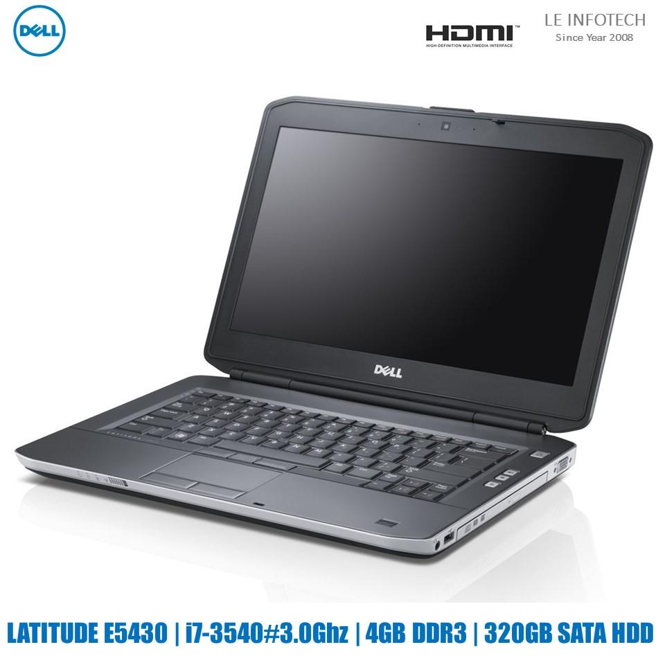 Dell Latitude E5430 14.1in Laptop i7-3540#3.0Ghz 4GB DDR3 320GB HDD Win 10 Pro HDMI Wifi One Month Warranty-Refurbished