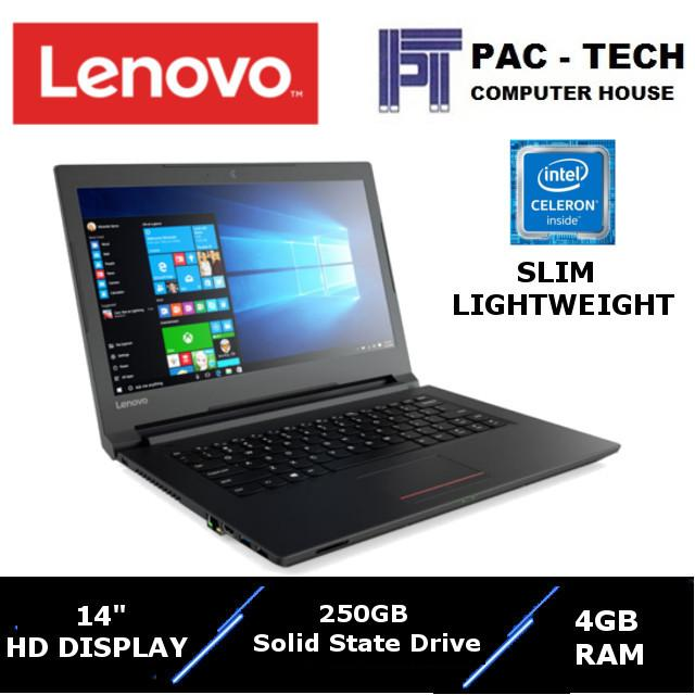 Lenovo V110/Intel Processor/4GB RAM/256GB Solid State Drive/14 HD Display/1 Year Warranty Business Laptop Unique 180Degree Hinge