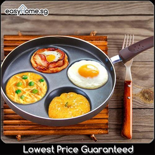 4 Egg Fry Pan (suit Pancakes Too) By Easyhome.sg.