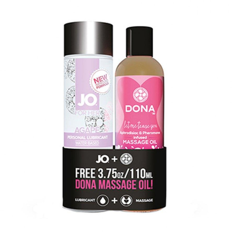 System Jo - Agape Original 4 Oz + Free Dona Flirty Massage Oil 3.75 Oz By Hornysg.