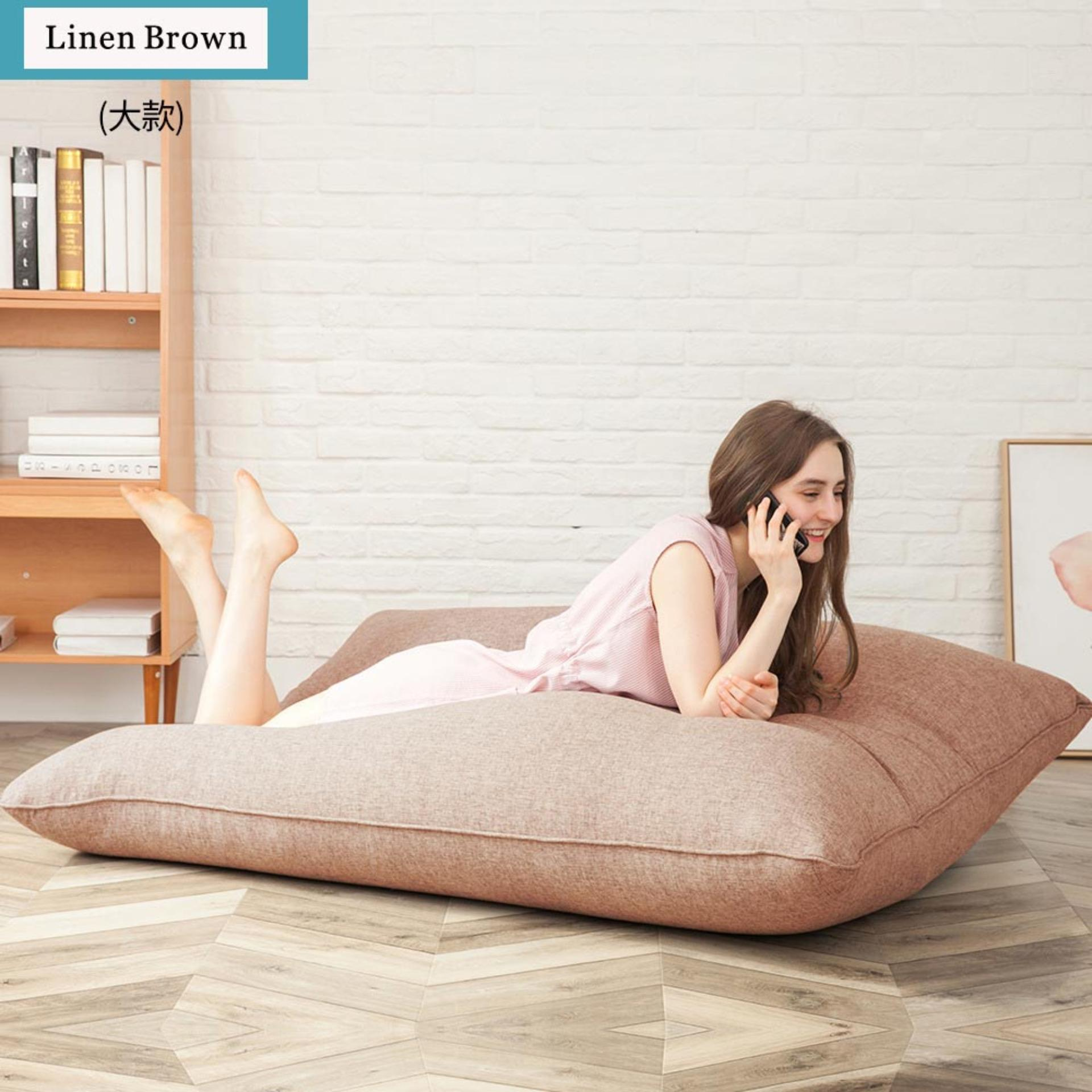 Huge Bean Bag Floor Lounger for Playing Video Games & Watching TV