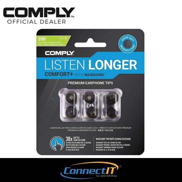 Comply Tsx 200 Black 3 Pairs Medium Foam Premium Earphone Tips For Comfort With Waxguard 3 Pairs Medium Tsx 200 Lowest Price