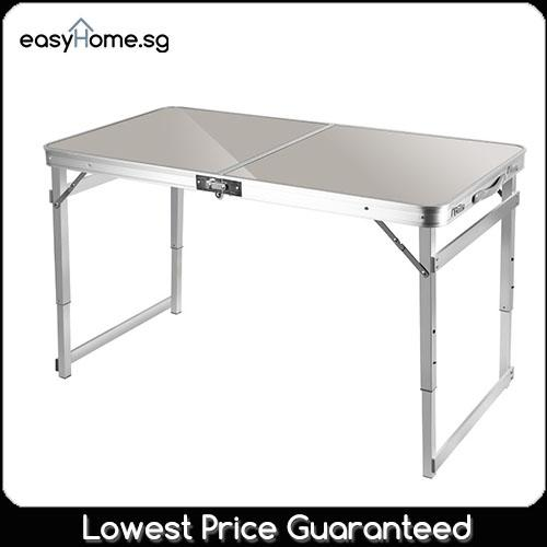 Heavy Duty 120cm X 60cm Portable Foldable Aluminium Table By Easyhome.sg.