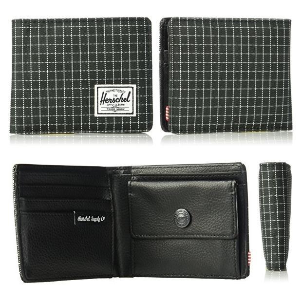 c54459689f6e Men's Hank wallet Coin pouch Black Grid RFID