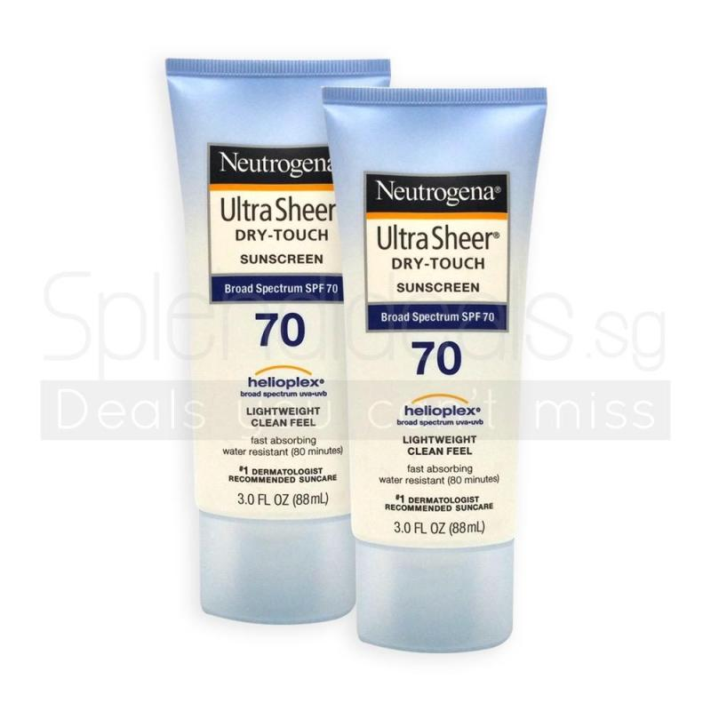 Buy (Pack of 2) Neutrogena Ultra Sheer Dry-Touch Sunscreen Broad Spectrum SPF 70 88ml - 7702 Singapore