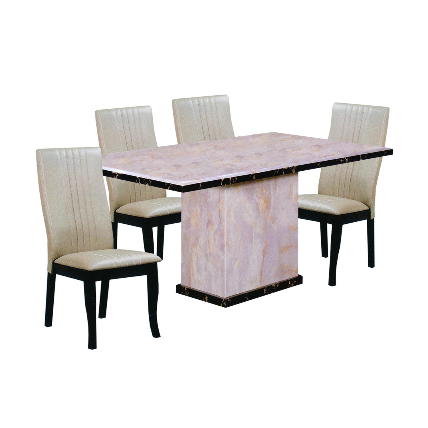 TAYLER / GORDAN Marble Top 1+6 Dining Set
