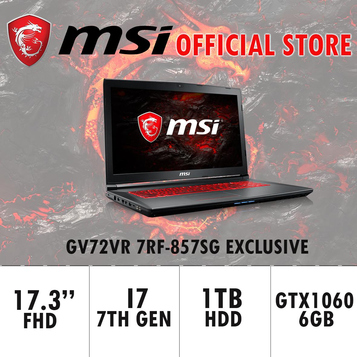 Latest Msi Laptops Products Enjoy Huge Discounts Lazada Sg Gt72s 6qf Dominator Pro G Gaming Laptop Dragon Edition Gv72vr 7rf 857sg Exclusive I7 7700hq 8gb Ddr4 128gb Ssd