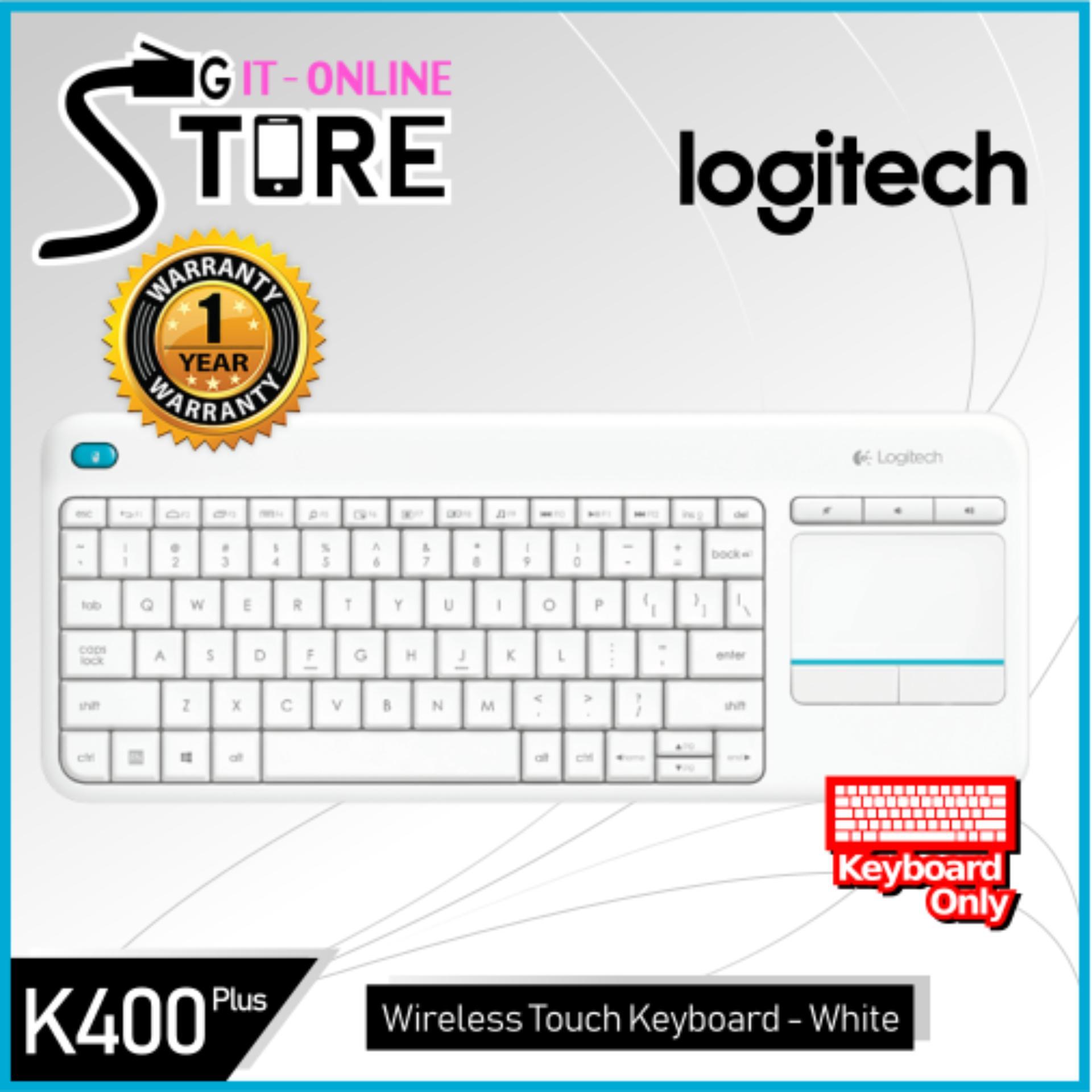 Logitech K400 Plus Black/White Singapore