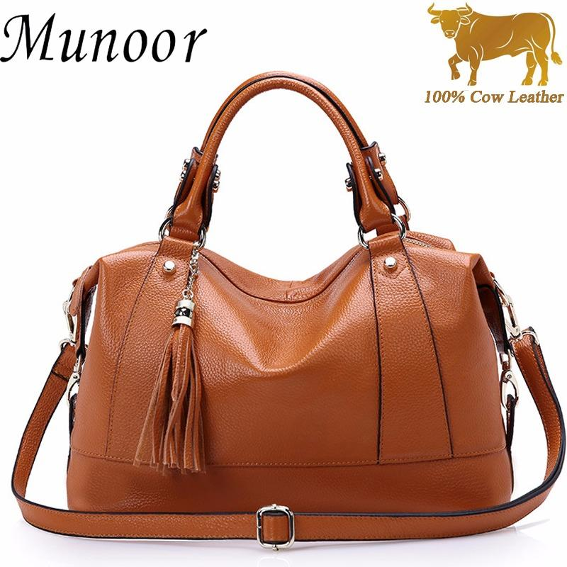 Munoor Women Top Handle Bags Italian 100 Genuine Cow Leather Fashinable Shoulder Bags Crossbody Clutch Holder On China