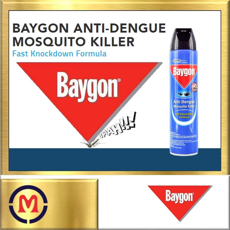【baygon Anti Dengue Mosquito Killer】fast Knockdown Formula ✦ 600ml ✦ By Mct Home Mart.