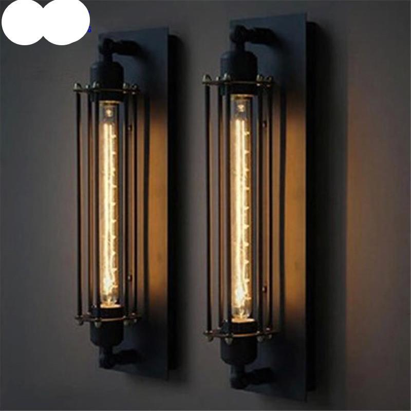 American Style Country Style Wall Lamp Retro Loft Industrial Bar Aisle Edison Creative Alcatraz Island Flute Wall Lamp