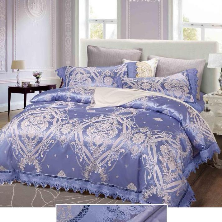 Isleep Silk Feel Cotton Jacquard Quilt With Bed Sheet Set 5Pcs Bundle Pack Penelope Singapore