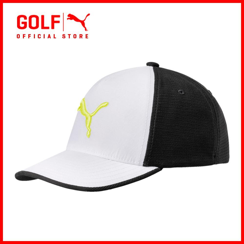 8336d5c7 Puma Golf Accessories Men Front 9 Flexfit Cap - Bright White-Puma Black