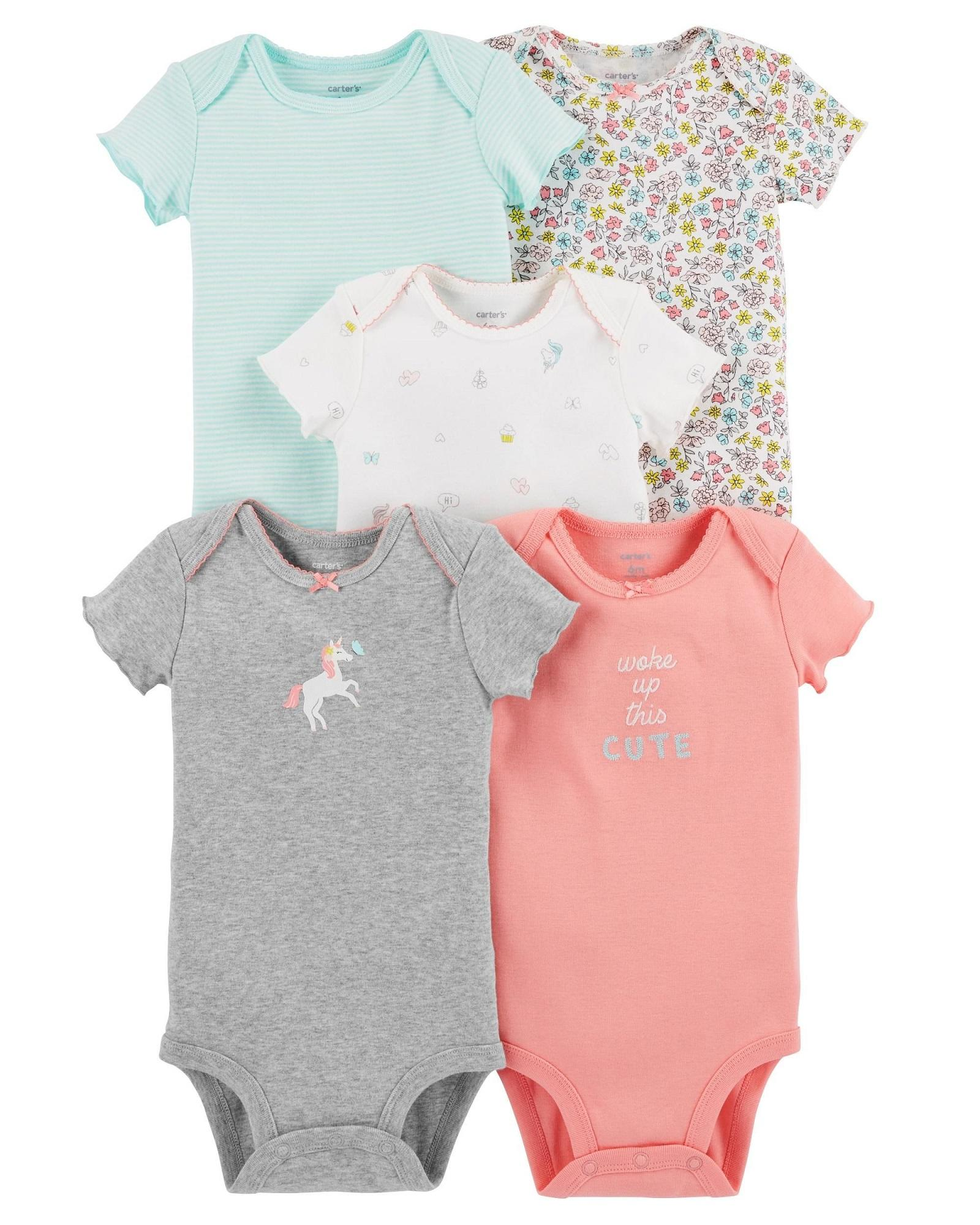 Buy Carter Baby Clothing Accessories Lazada Jumper Love Cagl192 Carters Girls 5 Pack Short Sleeve Original Bodysuits Woke Up This