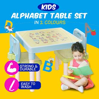 Kids Learning Alphabet Table Desk Set / Comes with 2 chairs / Children Essential / Furniture