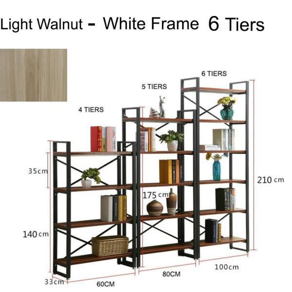 JIJI (Free Installation) 6 Tiers 100Cm Helium Bookcase Rack  (Shelve Storage) - Shelves / Bookcases / Bookshelf / Storage / Organizer /Furniture /Open Cabinet/ Free 12 Months Local Warranty (SG)