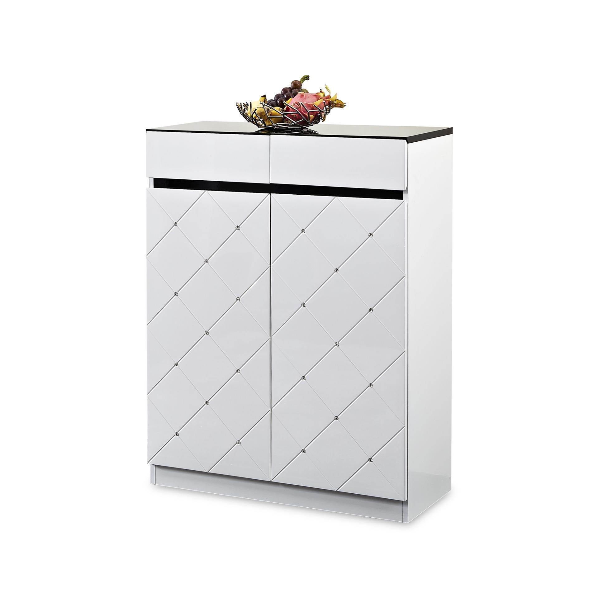 Alan 2 Door Shoe Cabinet (FREE DELIVERY)(FREE ASSEMBLY)