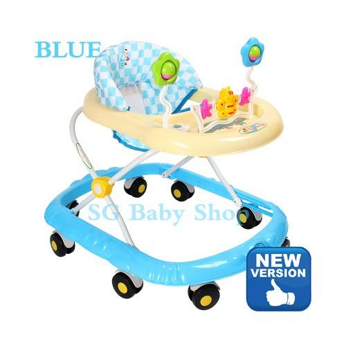 Foldable Round-Type Walker Anti-Roll Over With Music By Sgbabyshop.