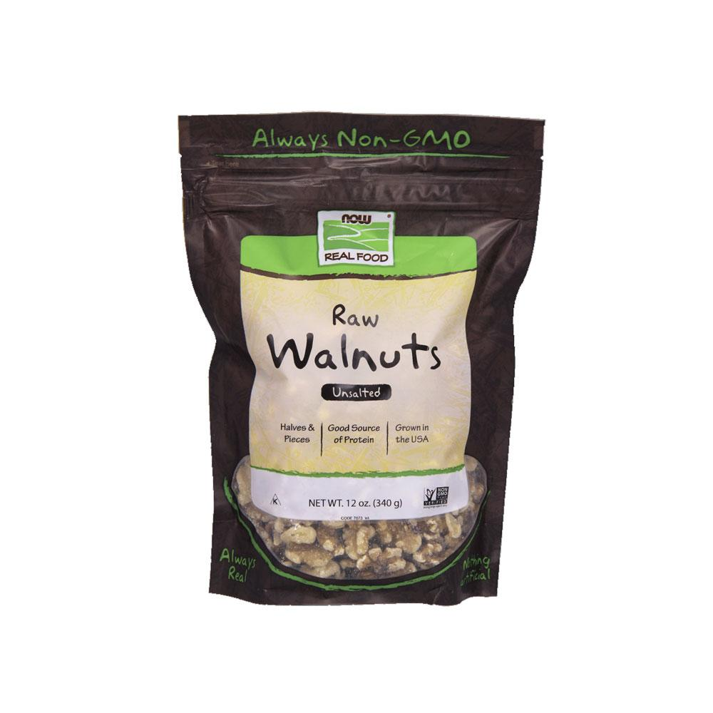 Now Foods, Raw Walnuts, Unsalted, 12 Oz (340 G) By Bloom Concept