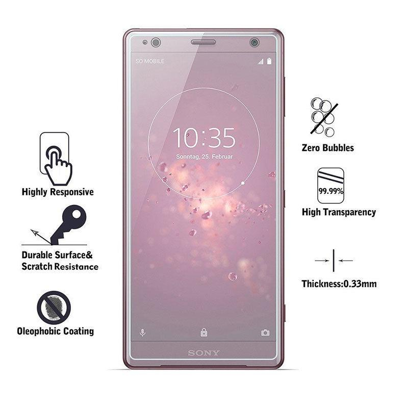 Sale 3D Full Coverage 9H Tempered Glass Screen Protector For Sony Xperia Xz2 Clear Unbranded Branded