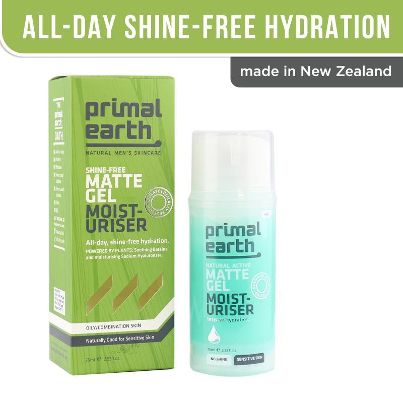 Buy Primal Earth Shine-Free Matte Gel Moisturiser 75ml Singapore