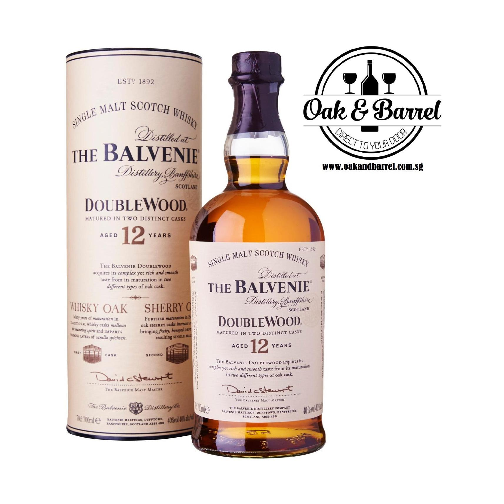 Compare Price Balvenie 12 Year Old Doublewood Whisky 700Ml On Singapore