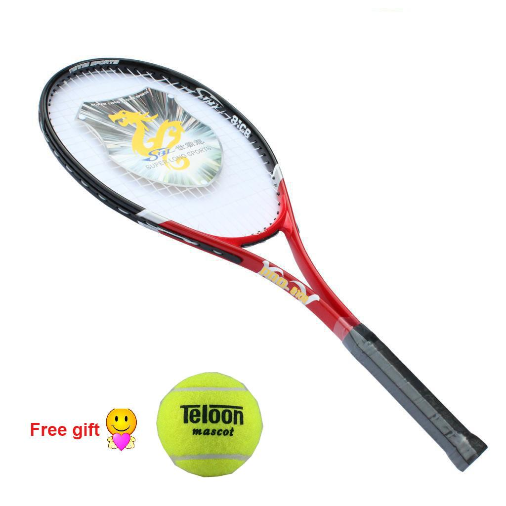 Retail Carbon Fiber Tennis Racket Red