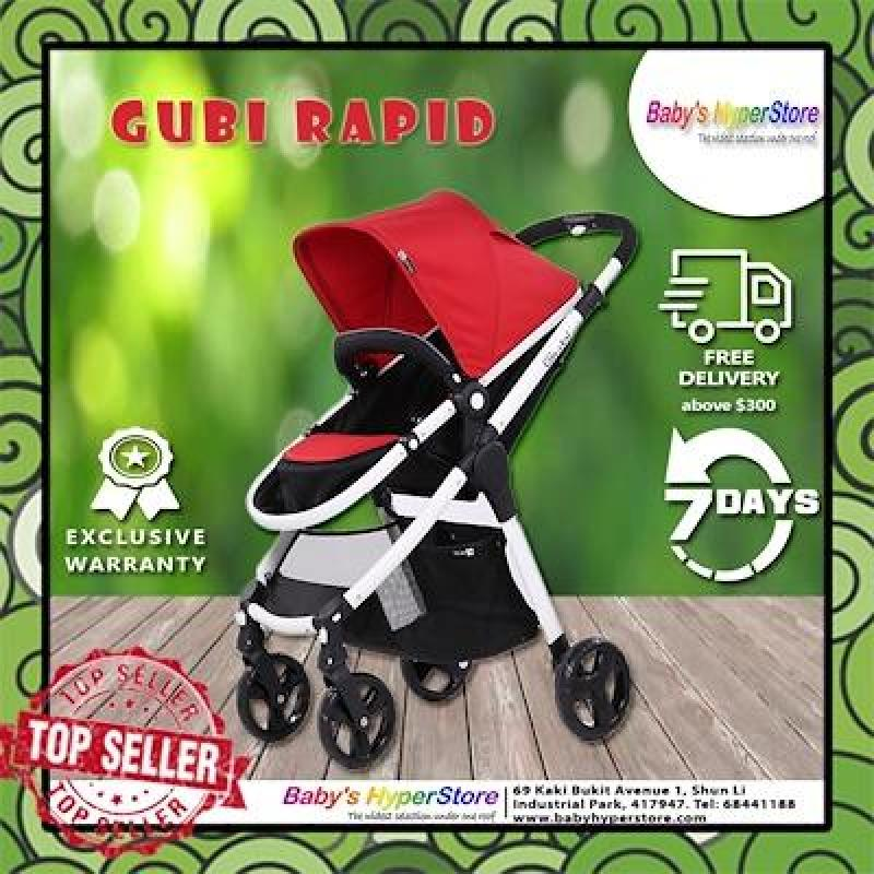 Gubi baby stroller Can Sit And Lie Suspension Baby Stroller Portable Folding pram European high qual Singapore