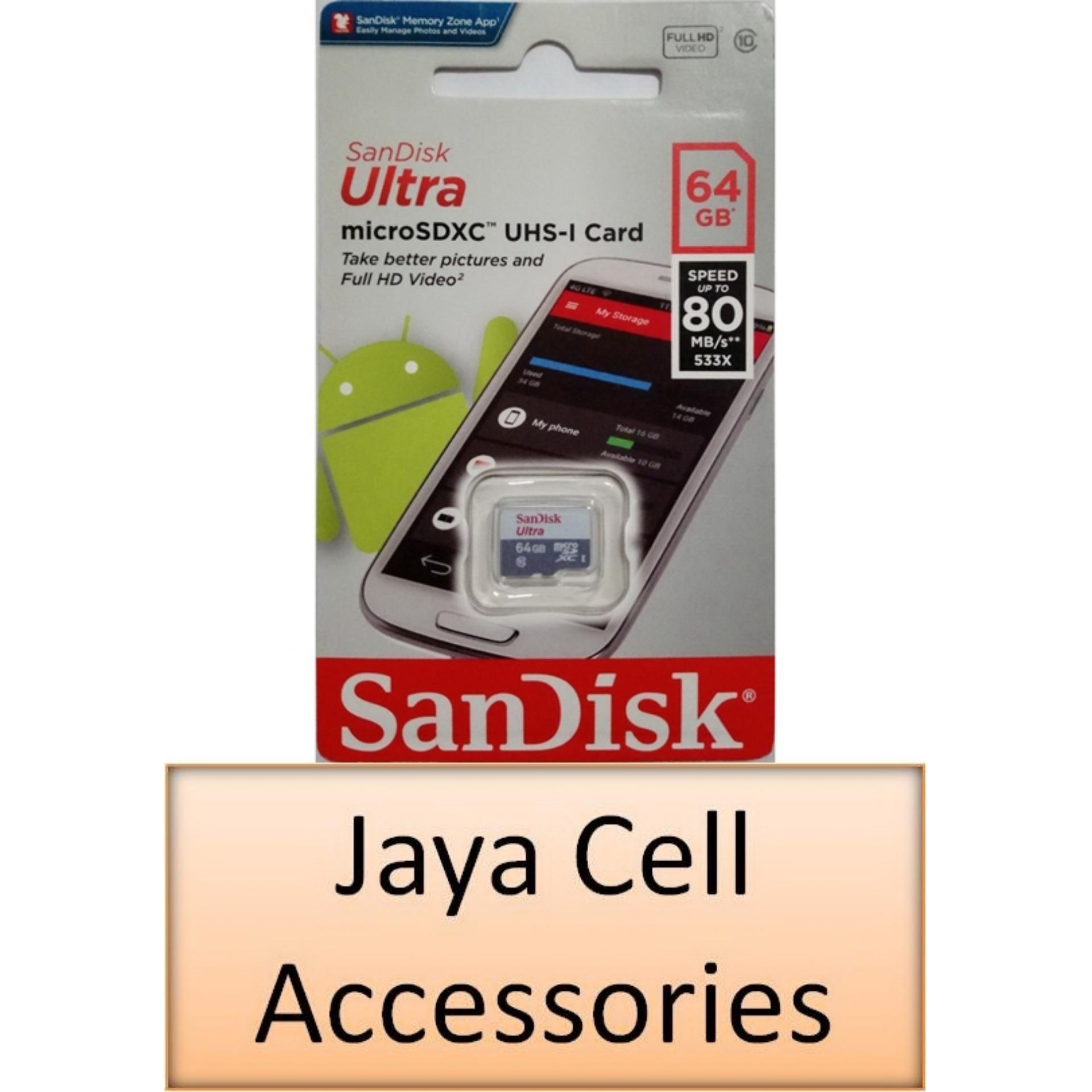 Buy Micro Sd Cards Smartphones Sandisk 16 Gb Ultra 16gb 32gb 64gb 128gb 80mbs Sdhc Xc Uhs 1