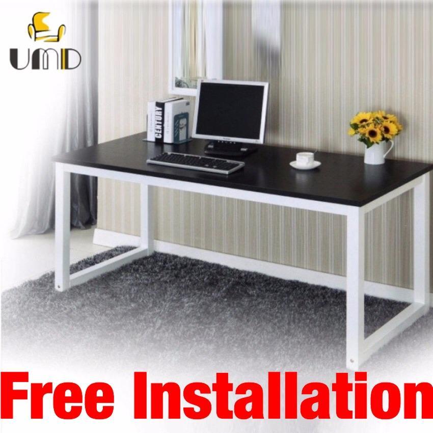 UMD (Size: 120L*60W*75H cm) Minimalism study table study desk computer table computer desk