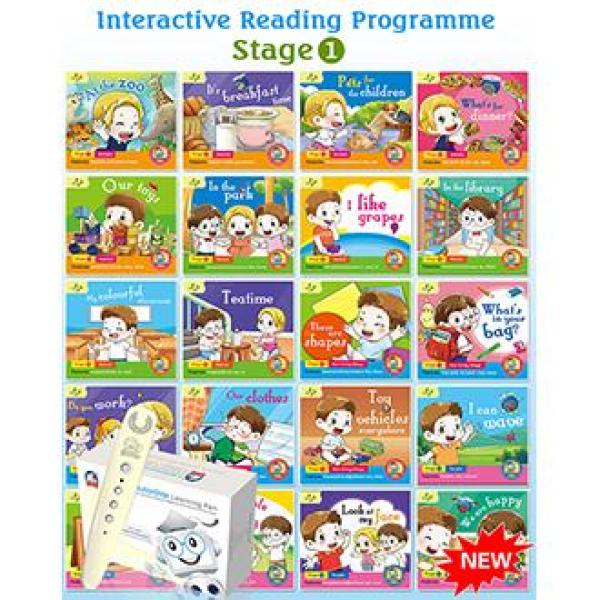 Interactive Reading Programme (Stage 1) BUNDLE - A Set of 20 Audio Books WITH EtutorStar Learning Pen