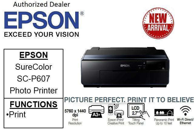 Epson SureColor SC-P607 Business ** Free $60 NTUC Voucher Till 25th May  2019 ** Borderless & Multi-media Professional 9-Colour Photo Printer SCP607  SC