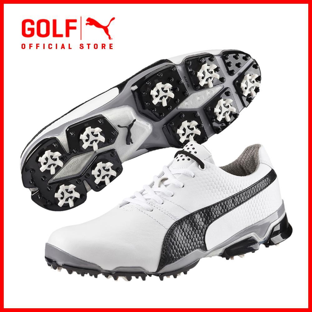 Puma Golf Men Titantour Ignite Footwear - White-Black-Drizzle By Puma Golf Official Store.