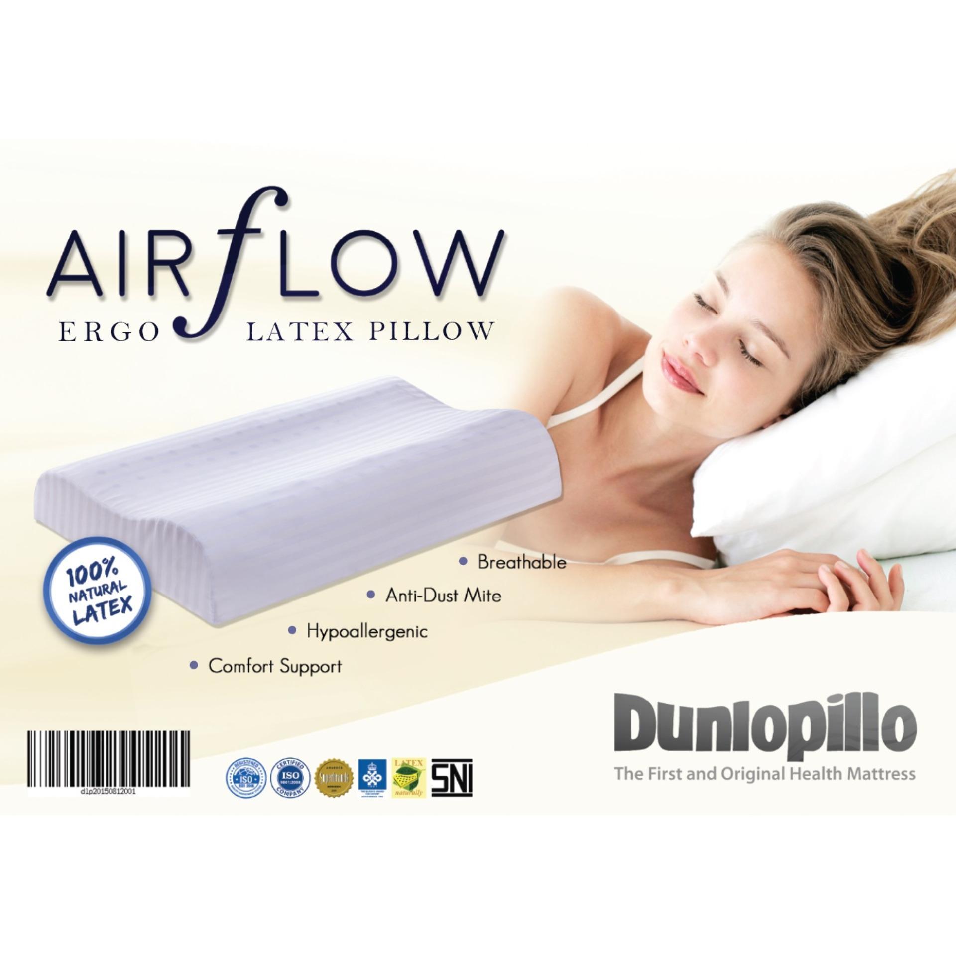Best Offer Dunlopillo 100 Natural Latex Ergo Pillow