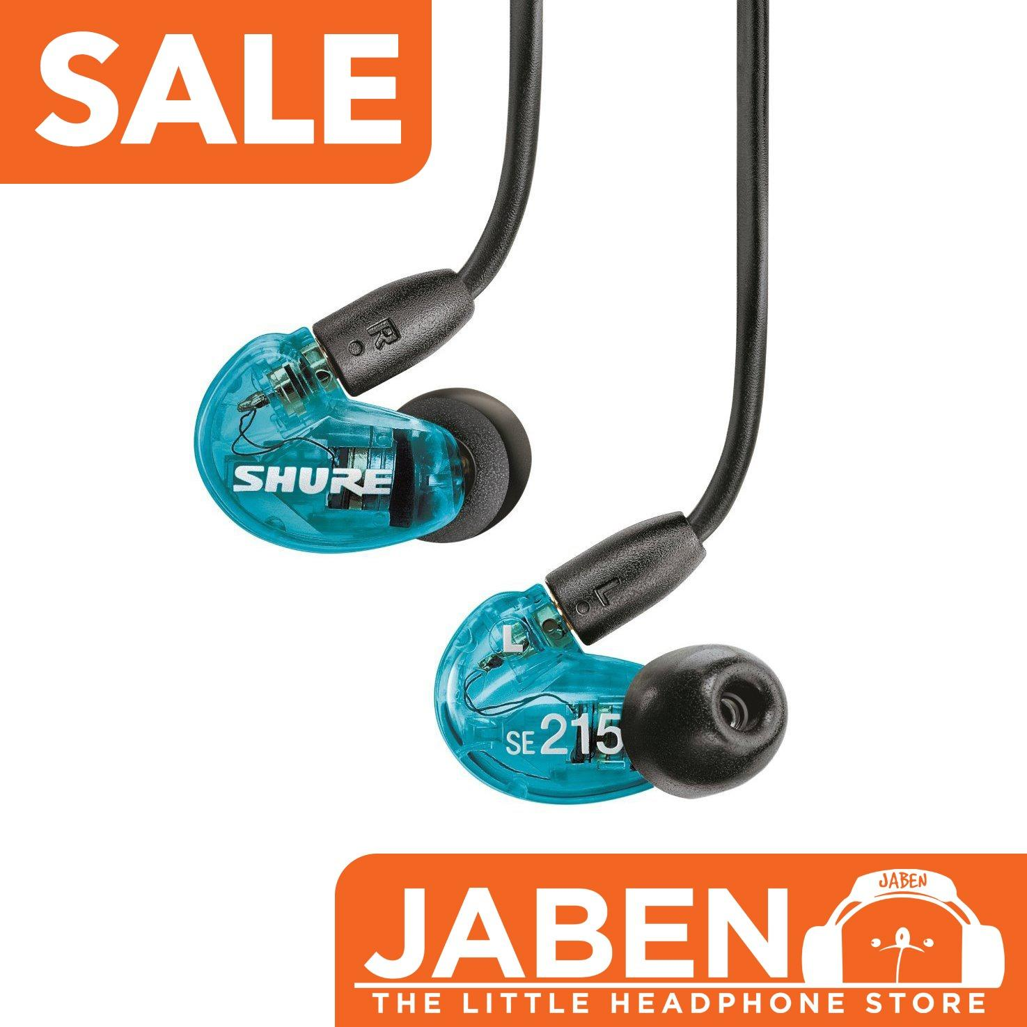 Shure Se215 Special Edition Blue Noise Isolating Earphone Blue Singapore