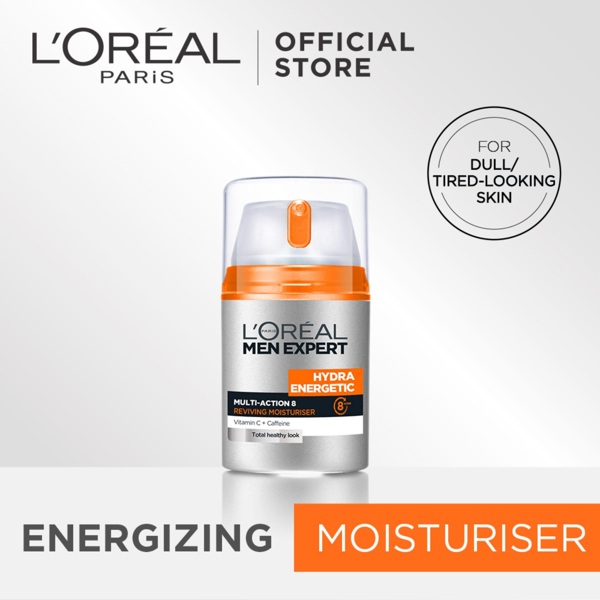 Hydra Energetic Multi-Action 8 Reviving Moisturizer 50ml By Loreal Men Expert By Loreal Paris.