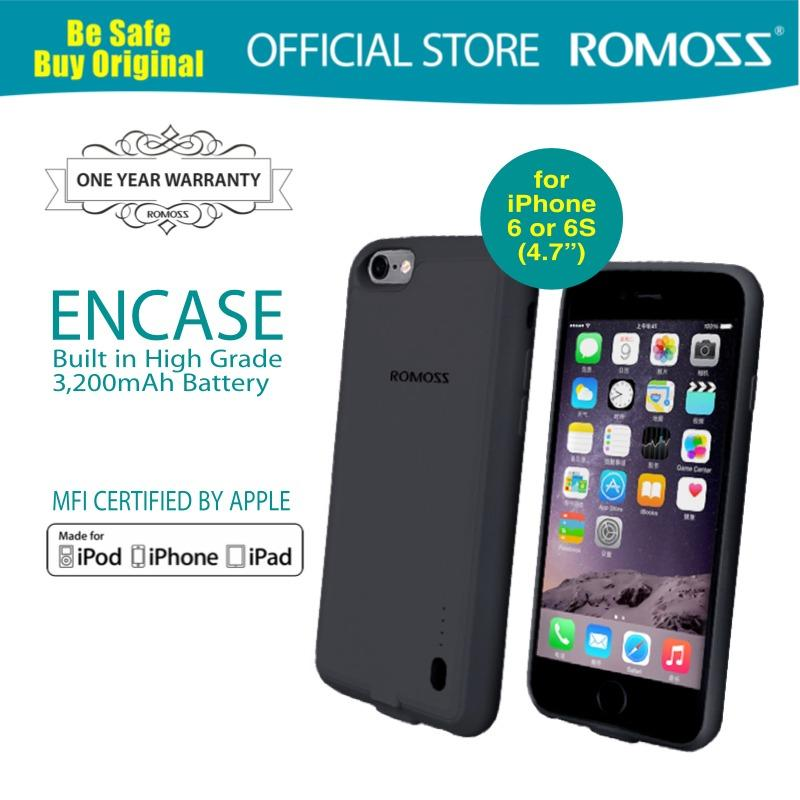 Where Can I Buy Romoss Premium Mfi Encase Battery Case For Iphone 6 S 4 7